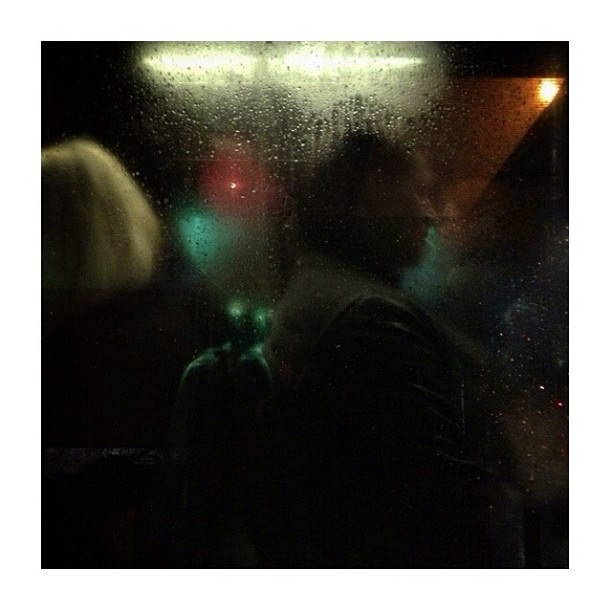 Fin de journée / End of the day by CeCiLe E. bus, candid, instagood, instamood, iphoneonly, night, paris, passengers, portrait, rain, strangersintransit, streetcolors, streetphotography, streetphoto_color,