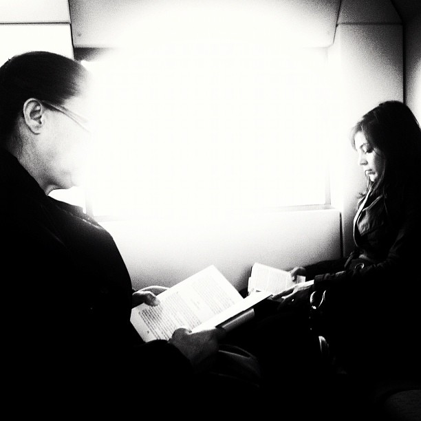 Readers     by Javier Matín iphoneography, passengers, streetphotography, ubiquography,