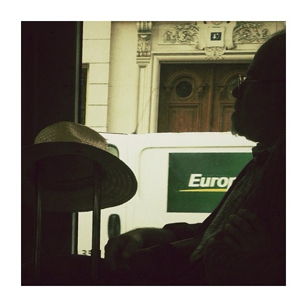 Europ by CeCiLe E. bus, candid, instagood, instamood, iphoneonly, paris, passengers, portrait, strangersintransit, streetcolors, streetphotography, streetphoto_color,