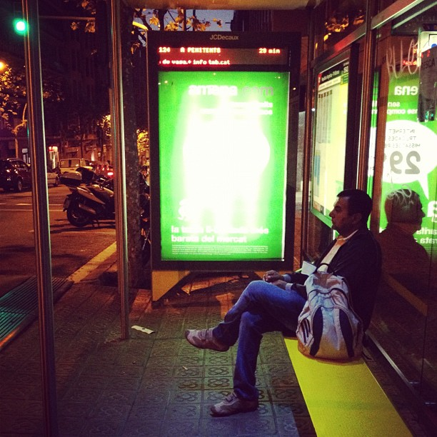 Waiting  by Fran Simó passengers,