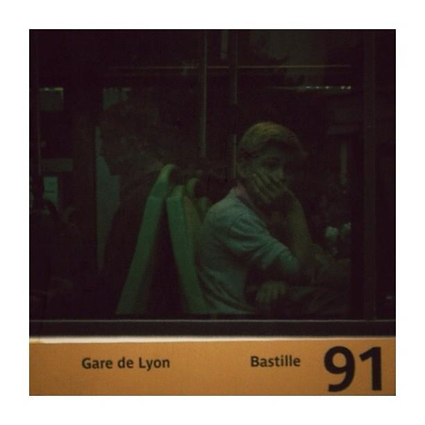 La vie du 91 / 91' life by CeCiLe E. bus, candid, instagood, instamood, iphoneonly, paris, passengers, portrait, strangersintransit, streetcolors, streetphotography, streetphoto_color,
