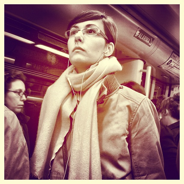 Mirada perdida    by Vicente Jurado igersmadrid, iphone, passengers, street,