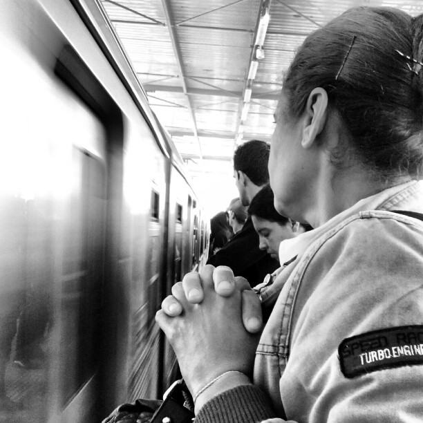 Praying for the incoming train.... rezando pelo trem vindo.... by Paulo Wang all_shots, ampt_community, awesome_bw, blackandwhite, bnw_society, centralfeed, contestgram, fineart_photobw, gang_family, gf_brasil, gf_daily, hot_shotz, idestaque_id, ink361, instagramhub, insta_snob, insta_time, most_deserving_bw, passengers, photooftheday, phototag_it, picsta, streetphoto, streetphotography, streetphotography_bw, streetphoto_bw, streetstyles_gf, streetwalker_069, street_photography,