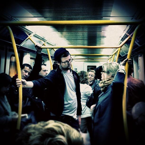 En arcos dorados    by Vicente Jurado igersmadrid, iphone, passengers, street,