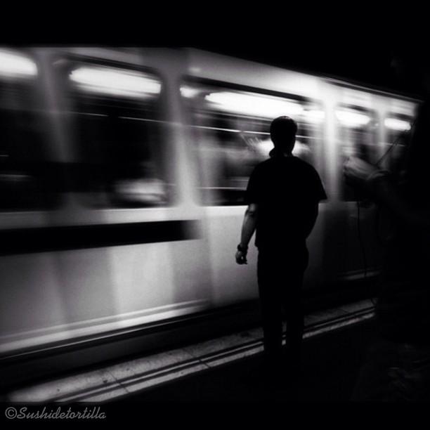 Last train to... by Carolina de Britos all_shots, fotodeldia, map2012, myride, passengers, photooftheday, sushiblackandwhite, sushisoldies, torrevieja2012, ubiquography,