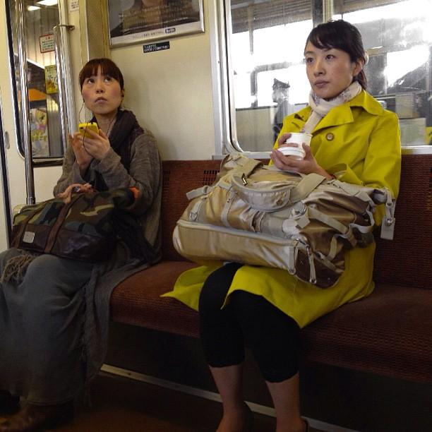 Amarillo by Fon Simó japan, japon, metro, passengers, tokio, tokyo, ubiquography,