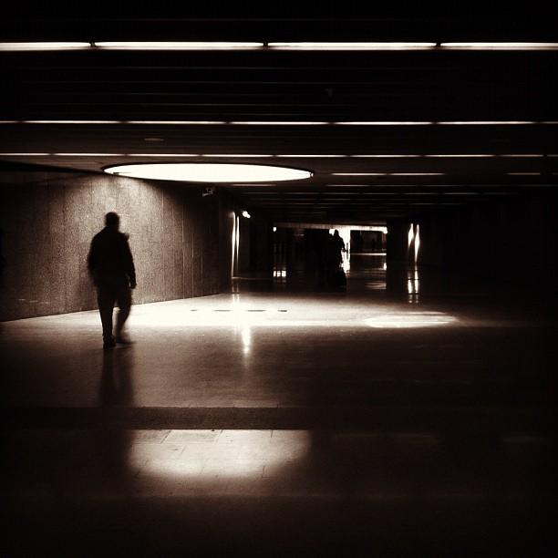 dark corridor by sergi meseguer barcelona, passengers, subway,