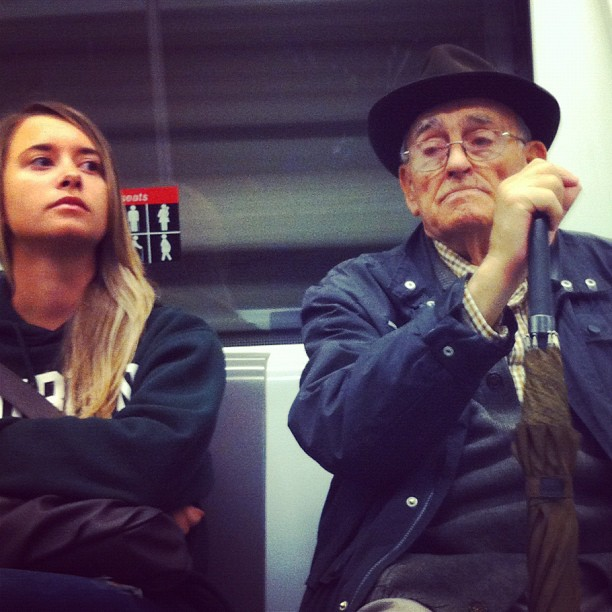Young woman, old man     by Joan Torrens igersbcn, passengers, ubiquography, wepicbcn,