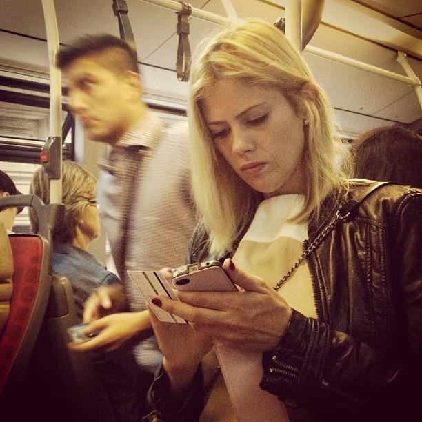 Texting   by Fran Simó passengers, womenarebeautiful,