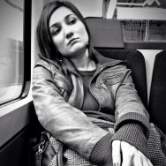 Thinking      by Marta Pacheco blackandwhite, iphonegraphy, monochrome, passengers, streetphotography,