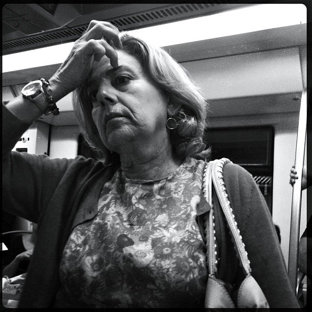 Worried. While is emerging more and more political corruption cases, people suffer to make ends meet.                            by Godo Chillida adeubenestar, adiosbienestar, barcelona, blanckandwhite, bnw_worldwide, bwlovers, bwstreet, corruption, government, insta_pick_bw, iphoneography, monochrome, passengers, realsuperhero, resignation, social, streetbw, streetphoto, streetphotography, streetphoto_bw, streetphoto_bw_ch_43, streetspotting, streetstyles_gf, subway, subwaypeople, ubiquography, worried,