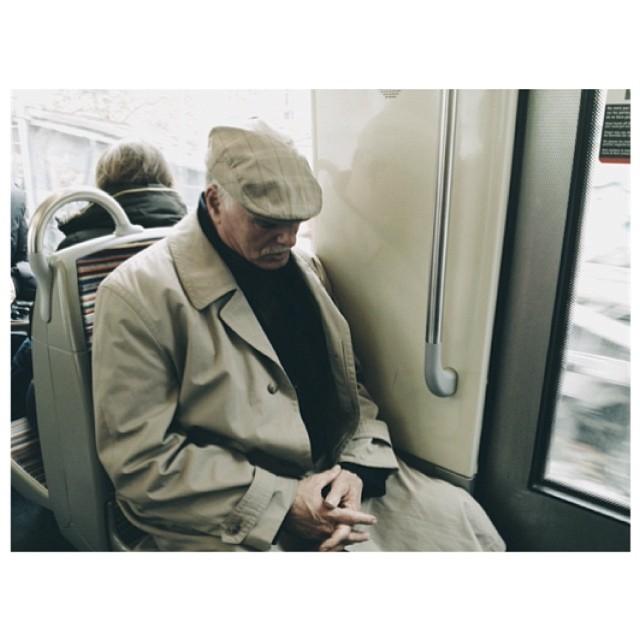 Untitled by jader_one france, man, metro, paris, passengers, praying, street, streetphotography, subway,
