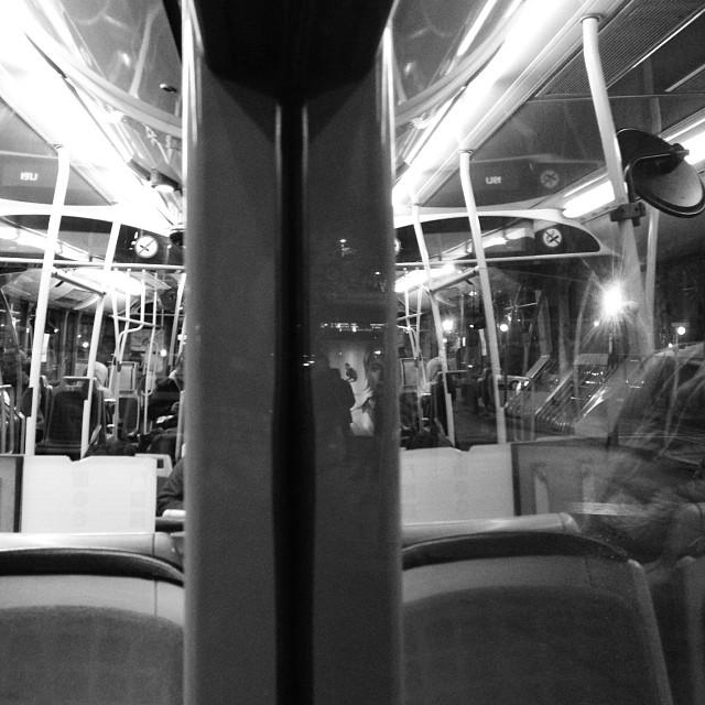 Inside-outside  the last of 2013 by Paula Jarrin passengers,