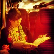 Early morning red train     by southcoasting passengers, reader, reading, redlight,