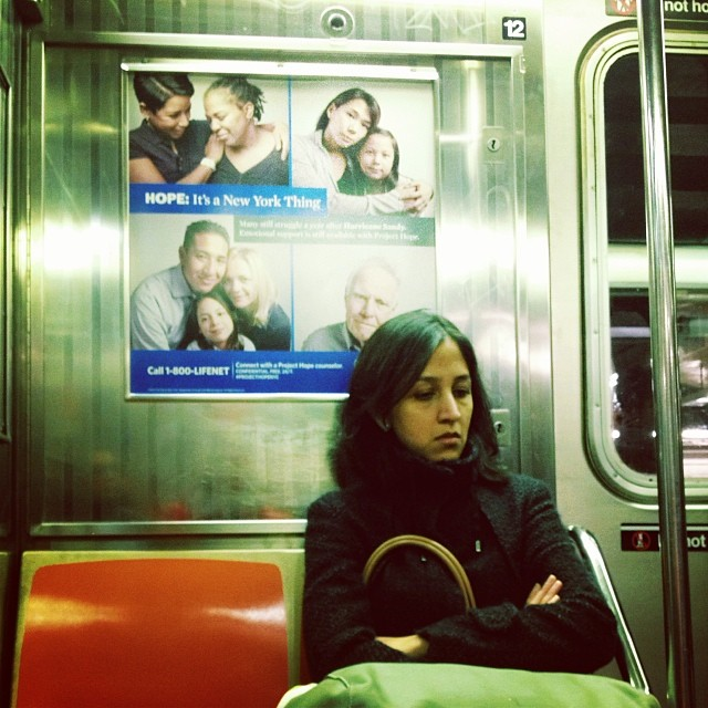 Hope is a New York thing  by Fran Simó passengers,