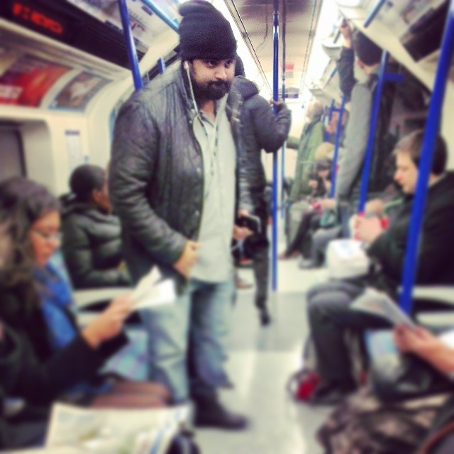 Bear in bluejeans      by southcoasting london, passengers, subway, tube, underground,