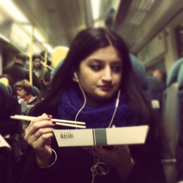 Wasabi-eater    by southcoasting eatingfoodontrains, makingmehungry, passengers,