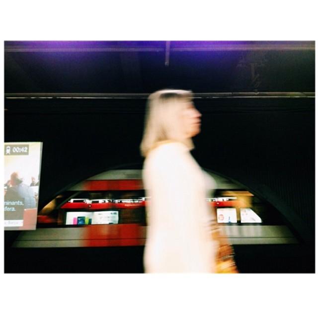 Untitled by jader_one barcelona, metro, passengers, spain, street, streetphotography, subway, train, underground, woman,