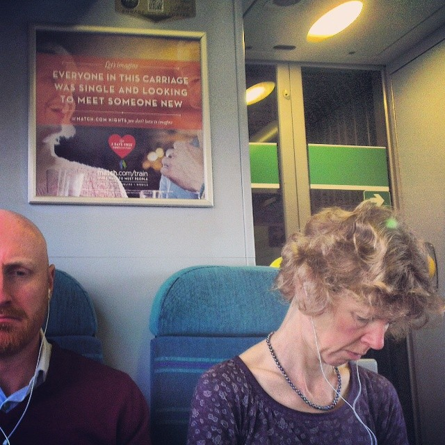Let's imagine...     by southcoasting advertising, lookingforlove, passengers, peopleonpublictransport,