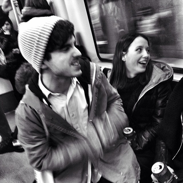 Dos                 by Benjamín Julve bcn, blackandwhite, bw, igers, iphonesia, monochrome, passengers, photooftheday, statigram, street, streetphotography, transport, ubiquography, webstagram,