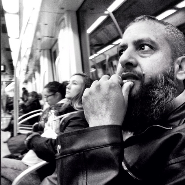 Concerned because the Spanish government imposes laws that go against the will of the people by Godo Chillida barcelona, blackandwhite, bws_worldwide, government, monochrome, passengers, resignation, streetbw, streetphoto, streetphotography, subwaypeople, subwaystation, ubiquography,
