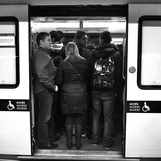 Untitled by Benjamín Julve bcn, blackandwhite, bnw_shots, bw, igers, iphonesia, monochrome, passengers, photooftheday, statigram, transport, ubiquography, webstagram,