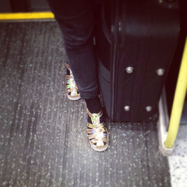 This season's shoes for commuters.  by hove9 passengers,