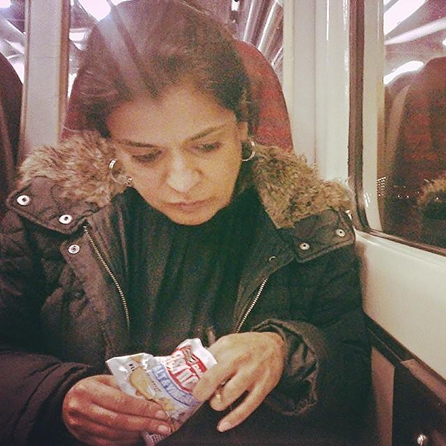 Salt 'n' vinegar    by southcoasting passengers, peopleonpublictransport, train,