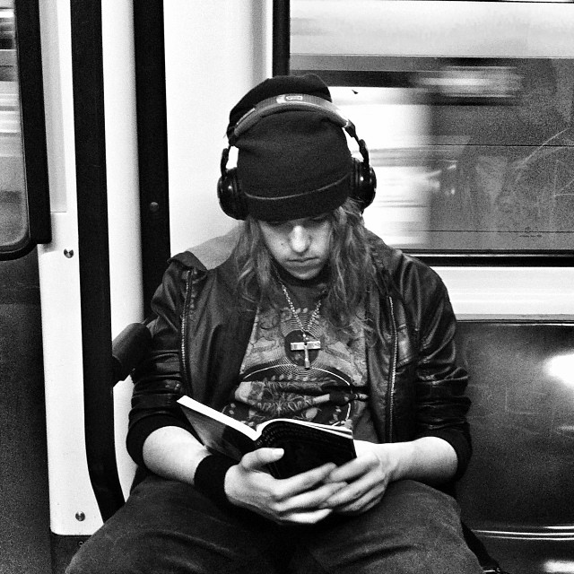 Untitled by Benjamín Julve bcn, blackandwhite, book, books, bw, igers, iphonesia, literature, monochrome, passengers, photooftheday, statigram, street, streetphotography, transport, ubiquography, webstagram,