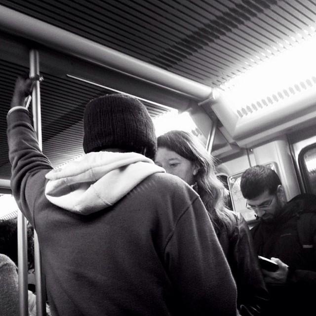 Intimacy issues by Godo Chillida barcelona, passengers, streetbw, streetphoto, streetphotography, subway, subwaypeople, ubiquography,