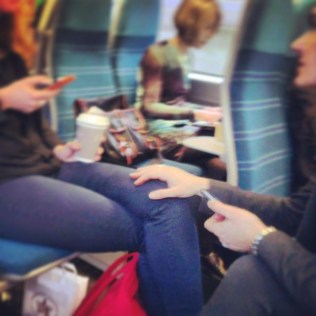 A welcome hand on the knee     by southcoasting friends, hands, passengers, probably,