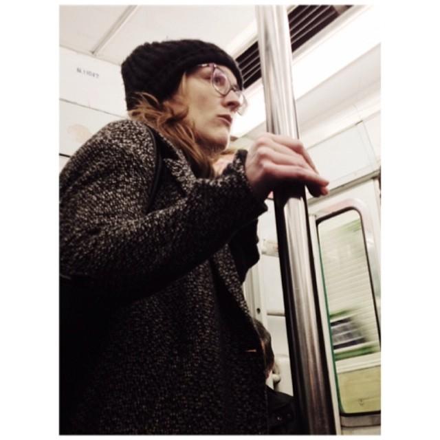 Parisian sadness                by jader_one france, glasses, hat, metro, paris, passengers, street, streetphotography, subway, train, travel, tube, tunel, underground, woman,