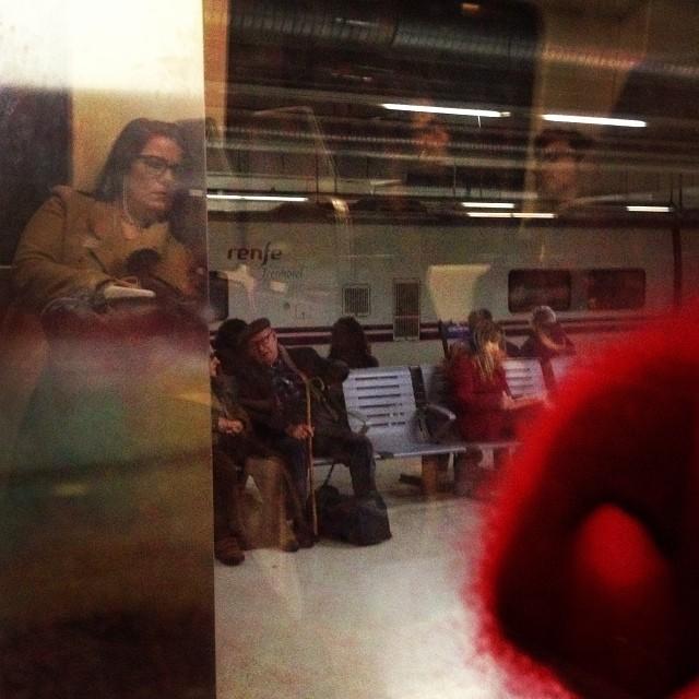 Llegada a la estación de Sants  by Rafa Pérez passengers,
