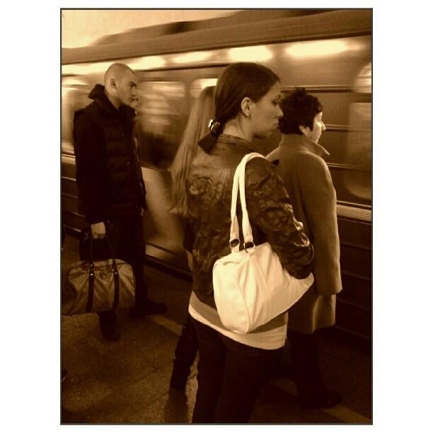Train arrival by creepture citi_zen, emotiondaily, hubstreet, igersmoscow, igersrussia, instamsk, metro, mobilography, monoart, monochrome, moscow, moscowmetro, passengers, rusmobphoto, russia, sepia, shootermag, statigram, strangersintransit, streetphoto, streetphotography, streetphoto_fav, streetportrait, subwaypeople, subwaythroughmyeyes, tube, wearejuxt, webstagram, большойгород, москва,