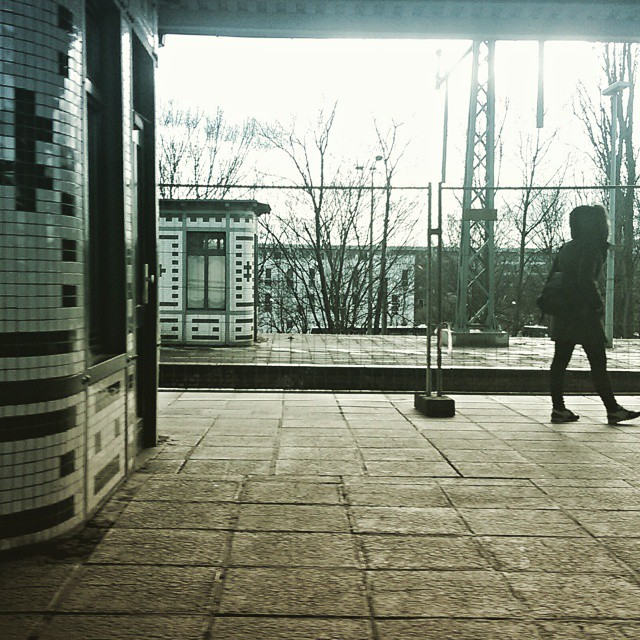 Waiting on the U-bahn Ring by southcoasting berlin, passengers,