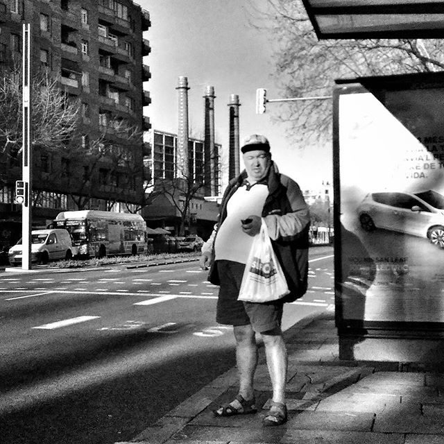 Mr. Winter Shorts by Godo Chillida barcelona, blackandwhite, black_and_white, bn, bnw, bnw_life, bnw_society, busstop, bw, bw_lover, bw_photooftheday, bw_planet, elparallel, man, monochrome, neighbourhood, noir, passengers, shorts, streetphoto, streetphotography, streetphotography_bw, streetphoto_bw, ubiquography, winter,